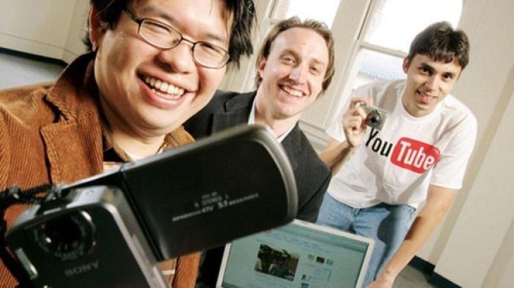 Chad Hurley, Steve Chen y Jawed Karim, los creadores de YouTube