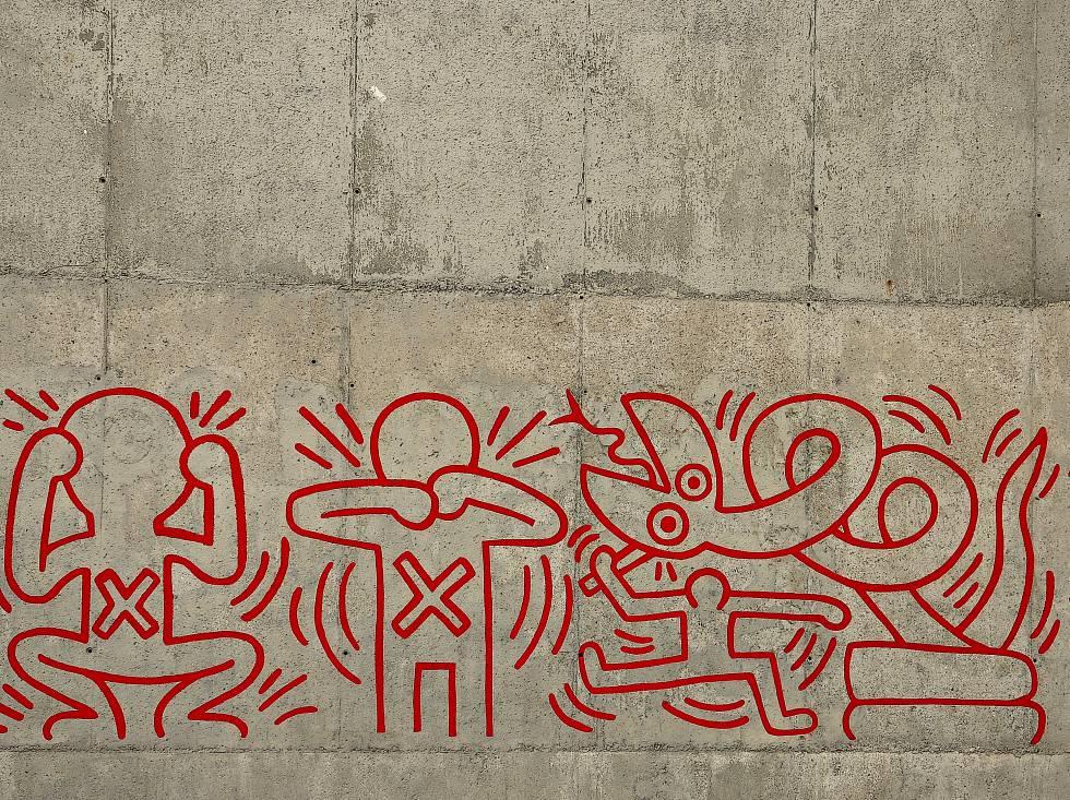 Keith Haring pintó su mural