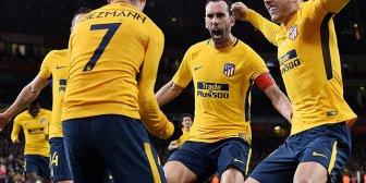 Atlético de Madrid rescató un empate sobre el final