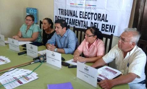 La Sala Plena del Tribunal Electoral Departamental de Beni