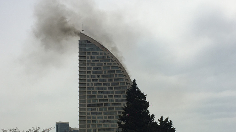 #VIDEO Incendio en Torre Trump en Azerbaiyán