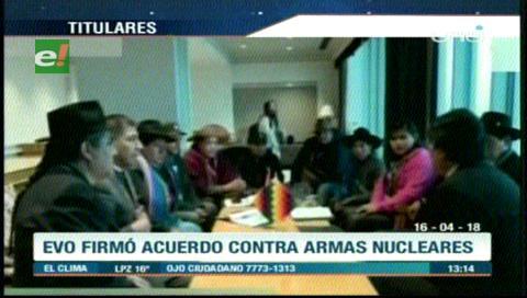 Video titulares de noticias de TV – Bolivia, mediodía del lunes 16 de abril de 2018