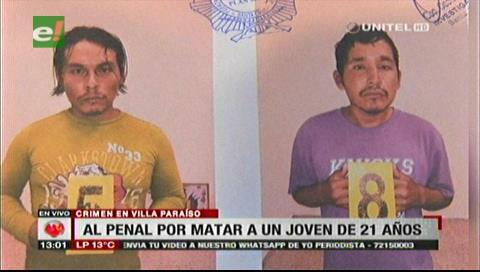 Envían a Palmasola a acusados de asesinar a un joven en Villa Paraíso