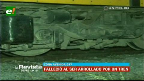 Santa Cruz: Hombre muere arrollado por el tren al quedarse dormido en la vía