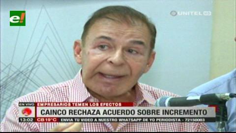 Cainco y Cadex rechazan el anuncio del incremento salarial