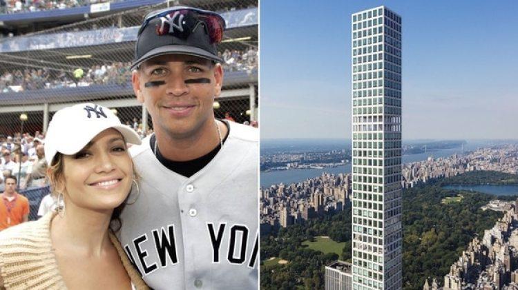 Jennifer Lopez y Alex Rodriguez recientemente compraron un apartamento en este lujoso edificio de Nueva York