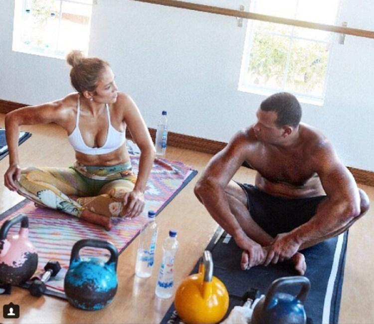 Jennifer Lopez y su novio el beisbolista Alex Rodriguez entrenan juntos y se motivan mutuamente.(Instagram: Jennifer Lopez)