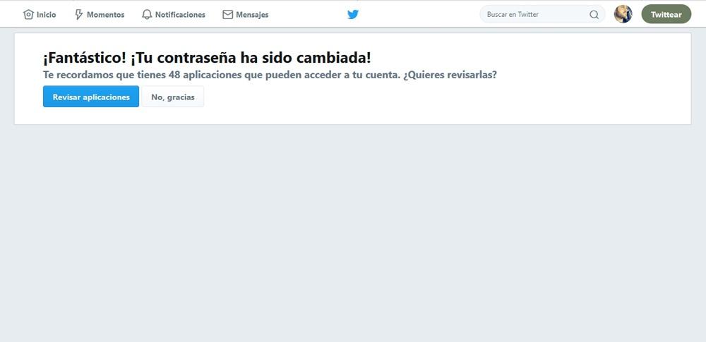 Apps conectadas a una cuenta de Twitter