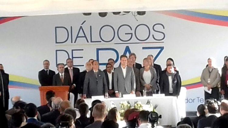 Los diálogos entre el ELN y el gobierno de Colombia comenzaron en Quito en febrero de 2017
