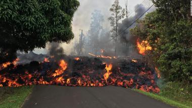 Lava del volcán Kilauea en Hawai