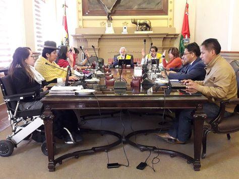 La sesión del Concejo de La Paz de este martes.