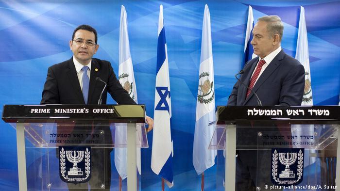 Präsident Jimmy Morales Guatemala in Jerusalem ARCHIV (picture-alliance/dpa/A. Sultan)