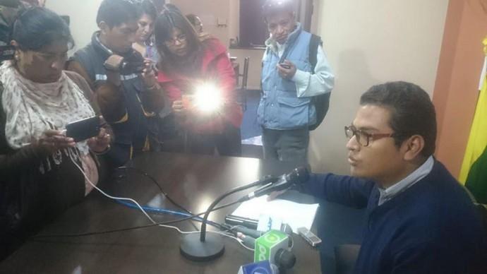 El diputado del MAS, Elmar Callejas. FOTO: CORREO DEL SUR