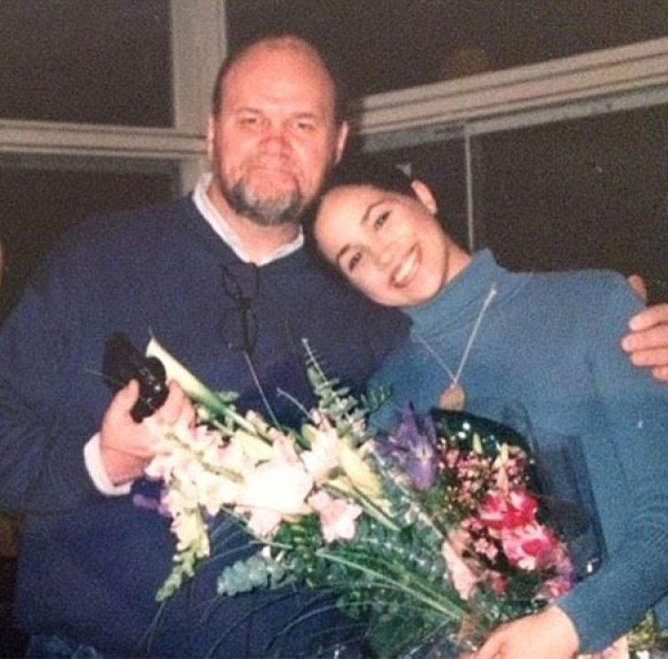 Meghan Markle con su padre Thomas en una foto de hace unos años
