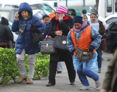 Ola de frío en la ciudad de Santa Cruz. Foto: La Razón