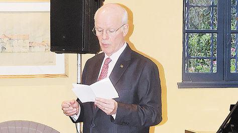 Raymundo Santos Rocha Magno en su discurso.