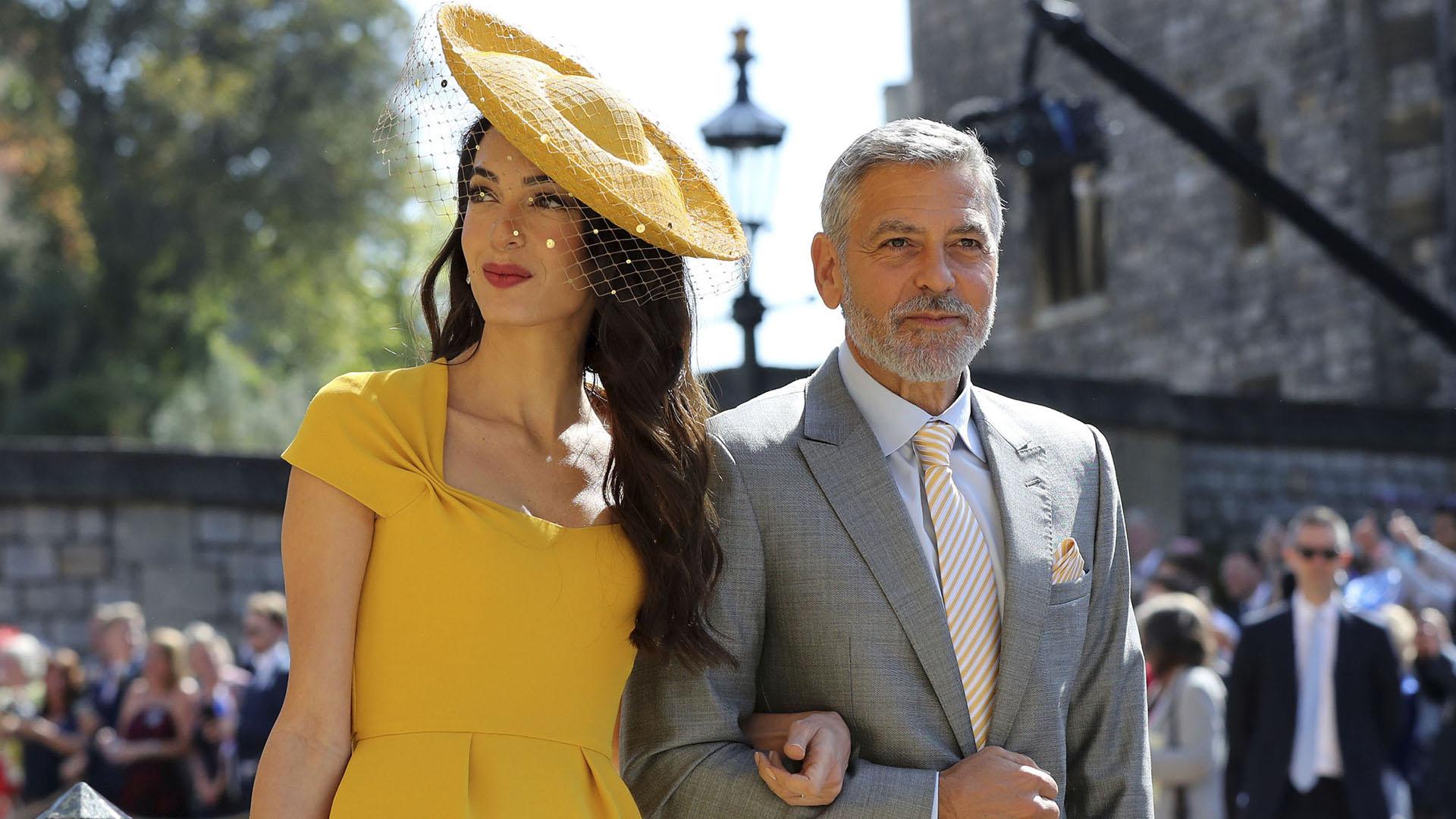 Elegantes y glamorosos, la pareja de George y Amal Clooney
