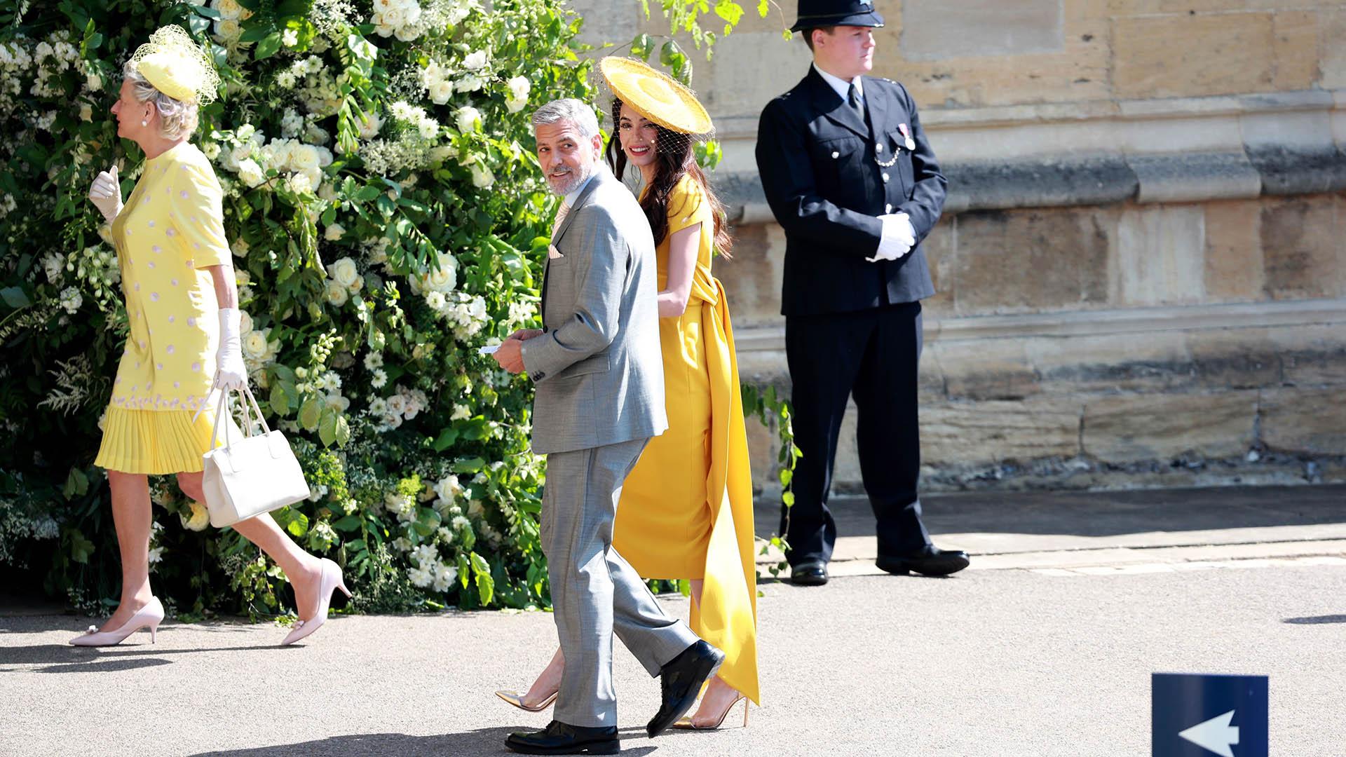 George Clooney y su esposa, Amal Alamuddin (EFE)
