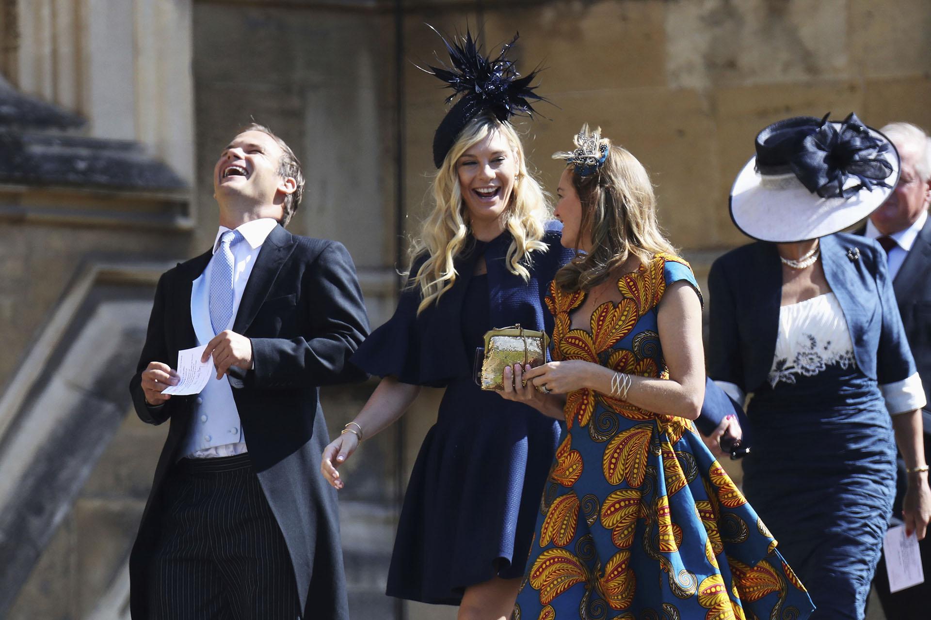 Chelsy Davy, la ex novia del príncipe Harry presente en la boda (AP)