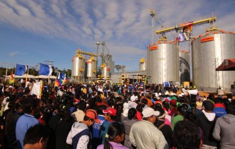 El acto de gestión de Gobierno en el que se entregó la planta de Almacenamiento de Granos en Cobija. Foto: Ministerio de Comunicación