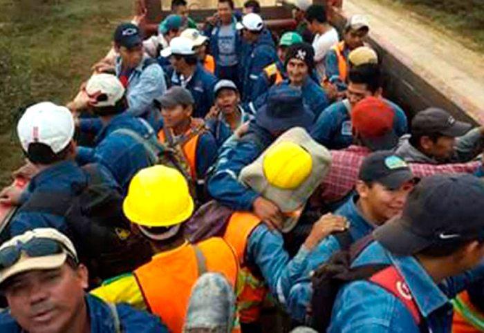 CONGRESISTAS EVIDENCIARON CONDICIONES INFRAHUMANAS EN TRATO DE EMPRESA CHINA RAIWAY A TRABAJADORES BOLIVIANOS.