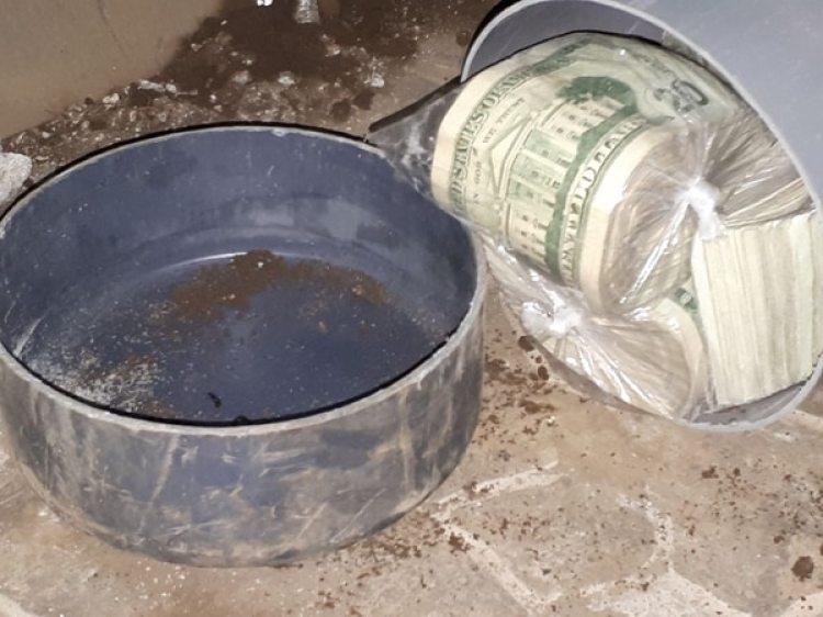Los dólares incautados en Santa Tecla, en El Salvador