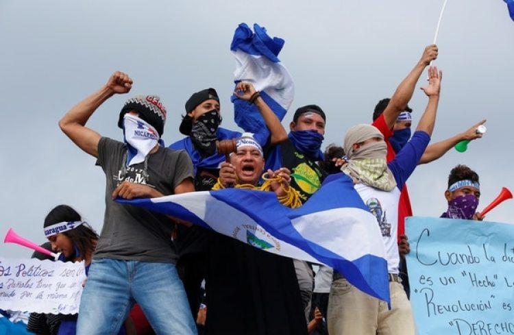 Los manifestantes piden la democratización del país y la renuncia de Daniel Ortega (REUTERS/Oswaldo Rivas)