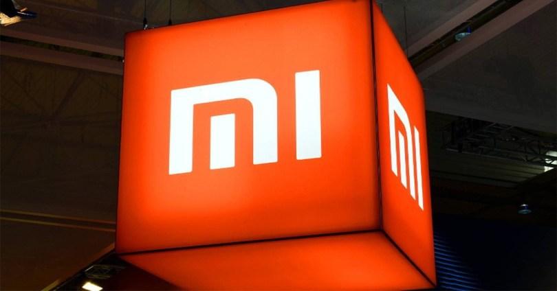 Logotipo de Xiaomi iluminado