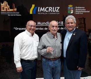Gabriel Dávalos, Xabier Azkargorta y Rubén Costas