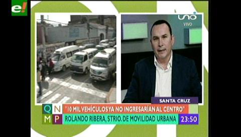 Santa Cruz: 10 mil vehículos ya no ingresarán al centro de la ciudad