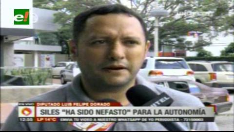 Diputado Dorado: Hugo Siles fue una persona nefasta para la Autonomía