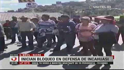 Incahuasi: Chuquisaca sigue movilizada y los bloqueos se acentúan