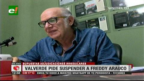 Valverde y concejales piden la suspensión de Arauco por contratos irregulares de la Alcaldía cruceña