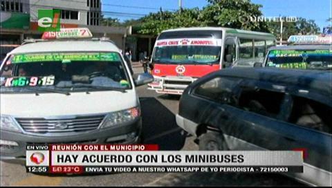 Acuerdo entre minibuses y municipio cruceño reduce el ingreso a la mitad al segundo anillo