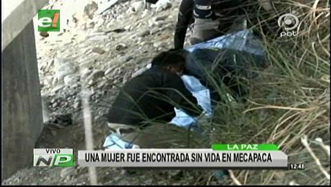 Encuentran el cadáver de una mujer en Mecapaca