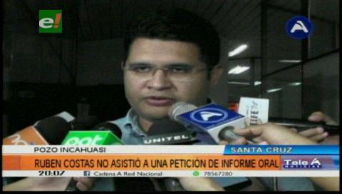 Rubén Costas presentó tres fundamentos para no declarar por Incahuasi ante diputados