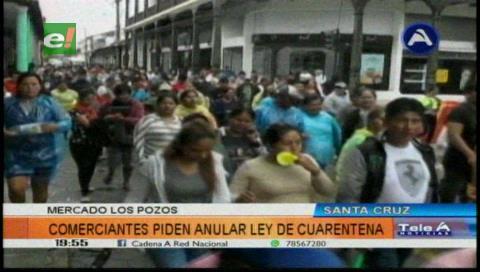 Comerciantes ambulantes Los Pozos dicen que denunciarán a la Alcaldía cruceña