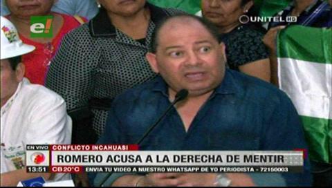 Romero: Gobierno manejó conflicto de Incahuasi de forma responsable pese a 'mentiras' de la derecha