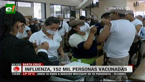 Santa Cruz: Cerca de 152 mil personas recibieron la vacuna contra la influenza