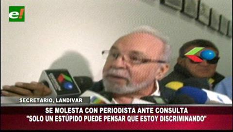 """Landívar: """"Solo un estúpido puede pensar que estoy discriminando"""""""