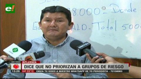 Muñoz acusa al Sedes de no priorizar los grupos de riesgo para la influenza