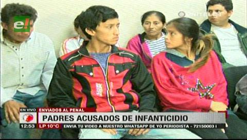 Padres acusados de infanticidio fueron enviados a Palmasola