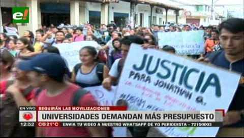 Universitarios anuncian movilizaciones para exigir más presupuesto para la UPEA
