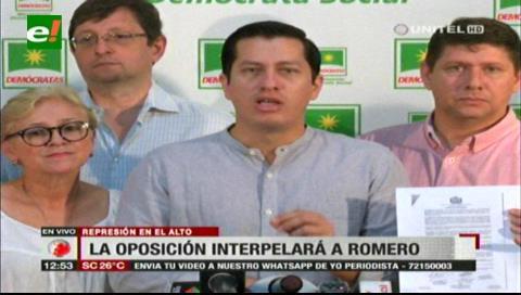 Oposición anuncia interpelación al ministro Romero por muerte de universitario de la UPEA