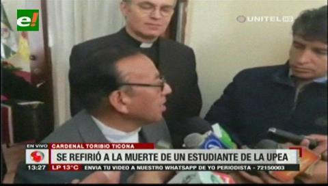 Cardenal Ticona pide que se esclarezca la muerte del estudiante de la UPEA
