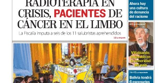 Portadas de periódicos de Bolivia del jueves 24 de mayo de 2018