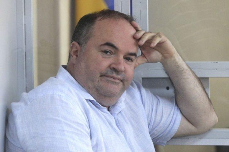 El fabricante de armas Borys Herman, sospechoso de planear el asesinato, en un tribunal de Kiev este jueves (REUTERS/Volodymyr Hontar)