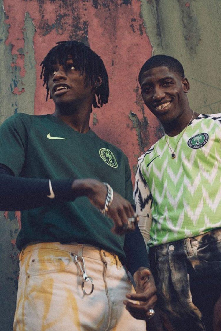 Así son las dos camisetas que usará Nigeria en el Mundial
