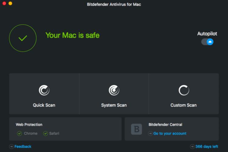 BitDefender, el antiviruspara Mac que PCMag destacó como favorito, ofrece también VPN.