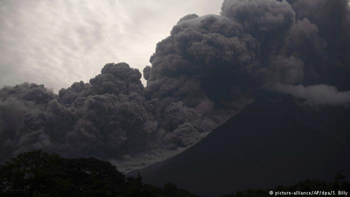 Erupción del Volcán de Fuego, en Guatemala. (3.06.2018).
